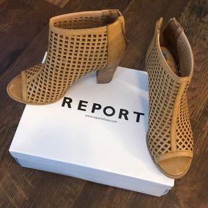 Leather Stack Heel • Cognac